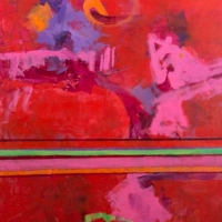 Yes-It's-Pink-acrylic-canvas-40x30x1.5-copyright-Cheryl-D-McClure