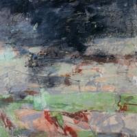 Storm_Over_Todi_1_encaustic_wood_panel_20x20x2_inches_copyright_Cheryl_D_McClure