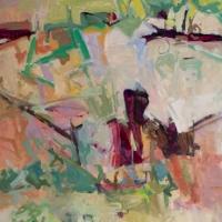 Johnson-Creek-July-acrylic-canvas-72x36x1.5-copyright-cheryl-D-McClure