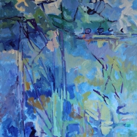 help-my-fence-is-falling-down-acrylic-canvas-40x30x2-copyright-cheryl-d-mcclure