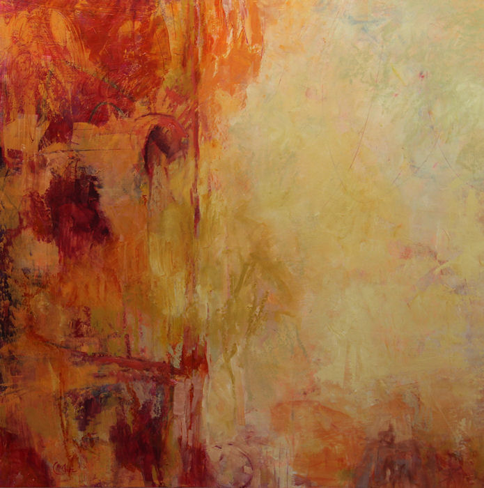 Annotations-Red-Walk-oil-wood-panel-36x36-inches-copyright-cheryldmcclure