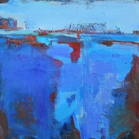 Blue_1_acrylic_panel_12x12_copyright_Cheryl_D_McClure