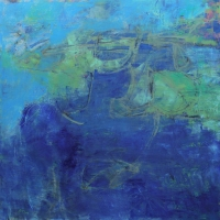 Annotations-Blue-Bay-36x36-inches-oil-wood-panel-copyright-cheryl-d-mcclure