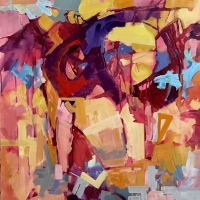 Mid-Summer-Johnson-Creek3-acrylic-canvas-30x30-copyright-cheryldmcclure