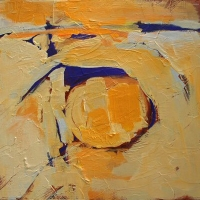 Yellow_2_acrylic_panel_12x12_copyright_Cheryl_D_McClure
