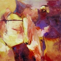 abstract_landscape_ochre_acrylic_canvas_36x36_copyright_cheryl_d_mcclure