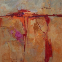 little_pieces_land_-with_magenta_acrylic_canvas_36x36x1-5inches_copyright_cheryl_d_mcclure