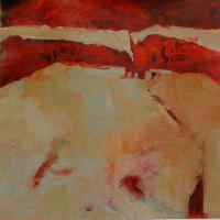 Pieces_of_red_7_acrylic_canvas_30x30_copyright_Cheryl_D_McClure