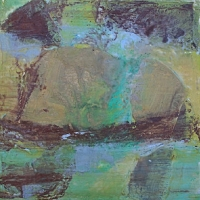 submerged_mixed-media_12x12_copyright_cheryl_d_mcclure