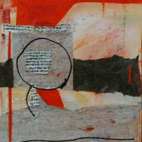 Black_Circle_mixed-media_24x18_copyright_Cheryl_D_McClure
